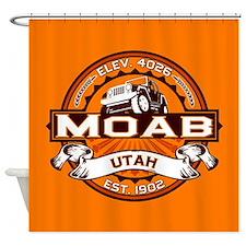 Moab Orange Shower Curtain