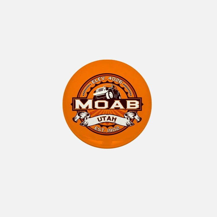 Moab Orange Mini Button