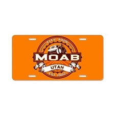 Moab Orange Aluminum License Plate
