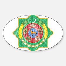 Turkmenistan Coat Of Arms Sticker (Oval)