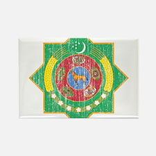 Turkmenistan Coat Of Arms Rectangle Magnet (100 pa