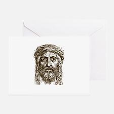 Jesus Face V1 Greeting Card