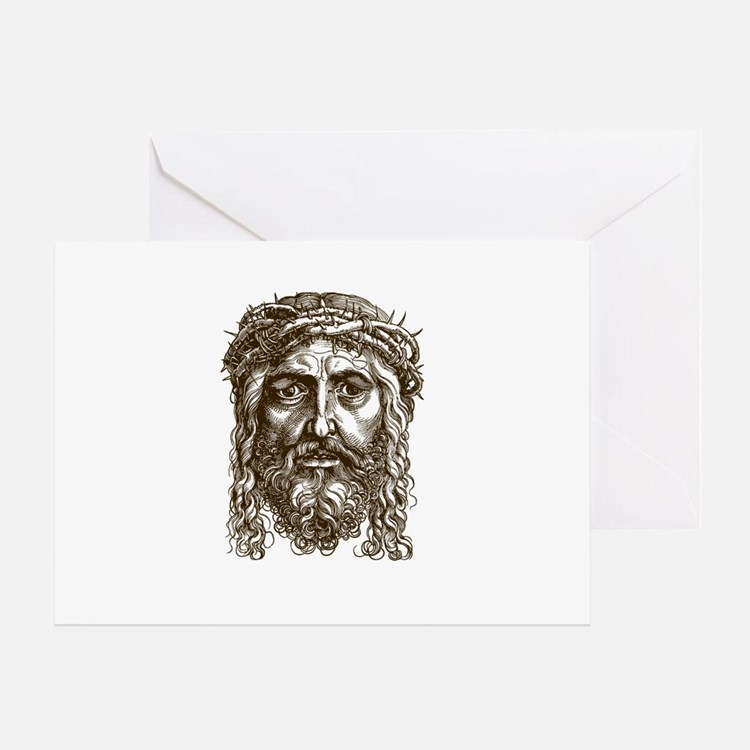 Jesus Face V1 Greeting Card