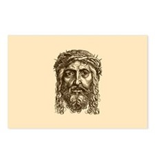 Jesus Face V1 Postcards (Package of 8)