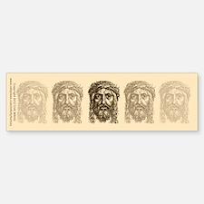 Jesus Face V1 Bumper Bumper Sticker