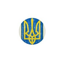 Ukraine Lesser Coat Of Arms Mini Button (100 pack)