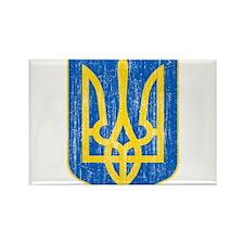 Ukraine Lesser Coat Of Arms Rectangle Magnet (10 p