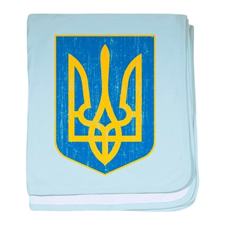 Ukraine Lesser Coat Of Arms baby blanket