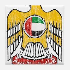United Arab Emirates Coat Of Arms Tile Coaster