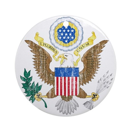 United States Coat Of Arms Ornament (Round)