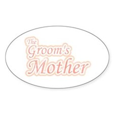 Groom's Mother Oval Decal