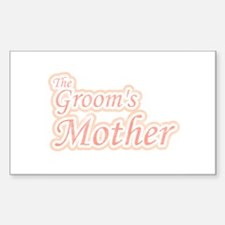 Groom's Mother Rectangle Decal