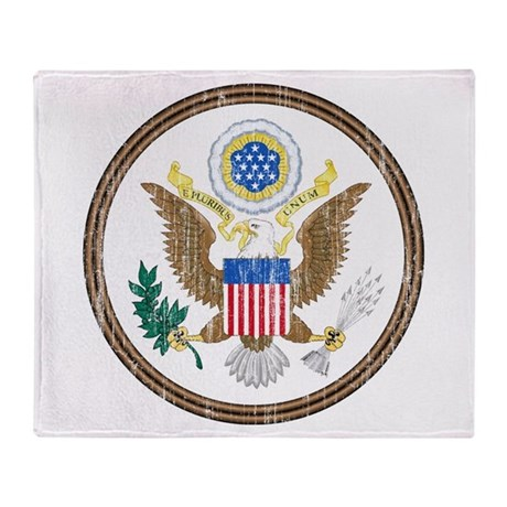 United States Coat Of Arms Throw Blanket