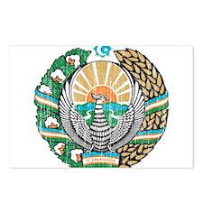 Uzbekistan Coat Of Arms Postcards (Package of 8)