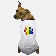 Gay Pride Paw Dog T-Shirt