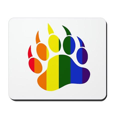 Gay Pride Paw Mousepad