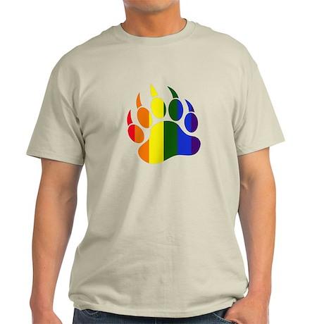 Gay Pride Paw Light T-Shirt