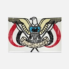 Yemen Coat Of Arms Rectangle Magnet