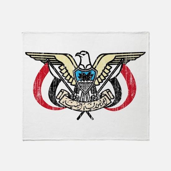 Yemen Coat Of Arms Throw Blanket