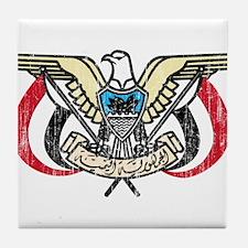 Yemen Coat Of Arms Tile Coaster