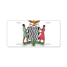Zambia Coat Of Arms Aluminum License Plate