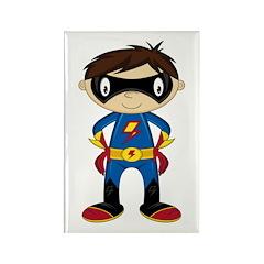 Masked Superhero Boy Rectangle Magnet (10 pack)