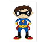 Masked Superhero Boy Postcards (Package of 8)