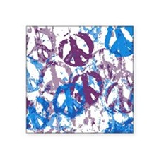"Cool Tone Peace Montage Square Sticker 3"" x 3"""