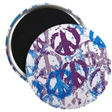 "Cool Tone Peace Montage 2.25"" Magnet (10 pack)"