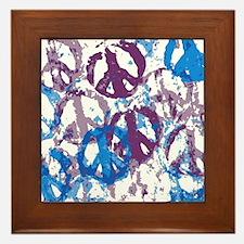 Cool Tone Peace Montage Framed Tile