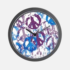 Cool Tone Peace Montage Wall Clock