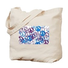 Cool Tone Peace Montage Tote Bag