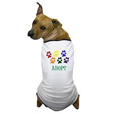 ADOPT Rainbow Paws Dog T-Shirt