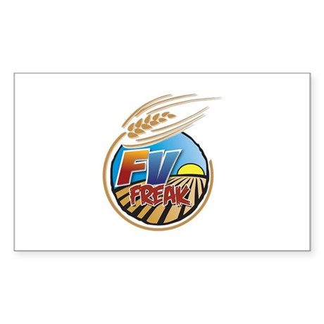 FarmVille Freak Logo Sticker (Rectangle)