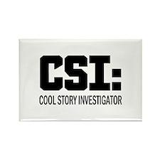 CSI: Cool Story Investigator Rectangle Magnet