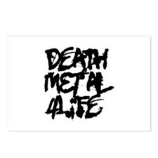 Death Metal 4 Life Postcards (Package of 8)