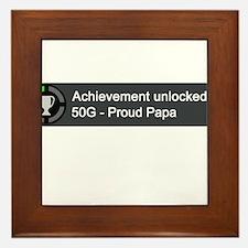 Proud Papa (Achievement) Framed Tile