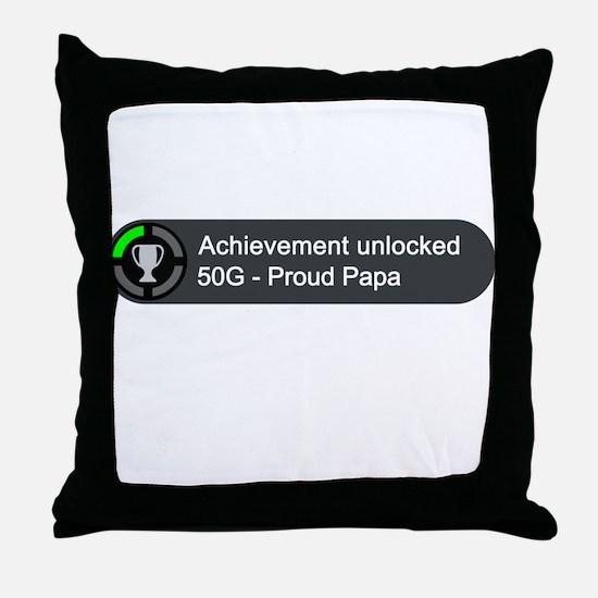Proud Papa (Achievement) Throw Pillow