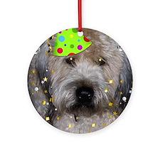 Party Animal Wheaton Terrier Ornament (Round)