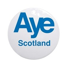 Aye Scotland Ornament (Round)