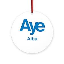 Aye Alba Ornament (Round)
