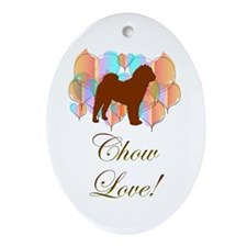 Chow Love! Oval Ornament