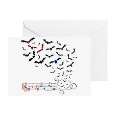 Bat Music Design Greeting Card