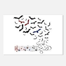 Bat Music Design Postcards (Package of 8)