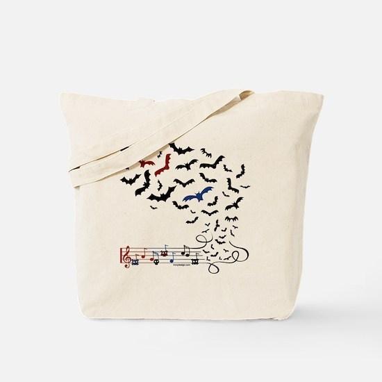 Bat Music Design Tote Bag