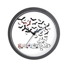 Bat Music Design Wall Clock