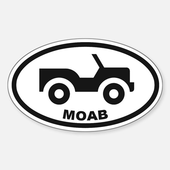 Moab Utah Sticker (Oval)