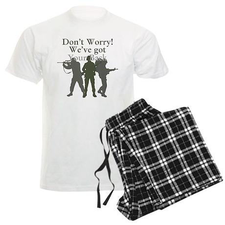 Dont Worry, Weve Got Your Back Men's Light Pajamas