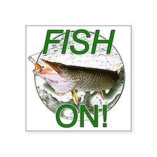 "Musky fish on Square Sticker 3"" x 3"""