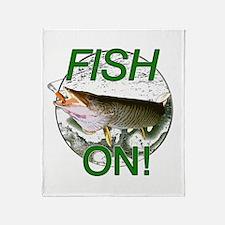 Musky fish on Throw Blanket